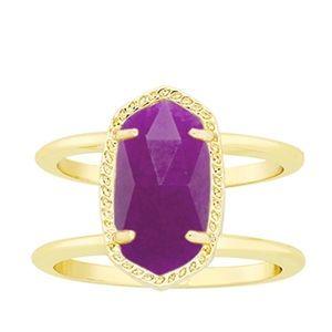 Kendra Scott Elyse Ring in Purple Jade